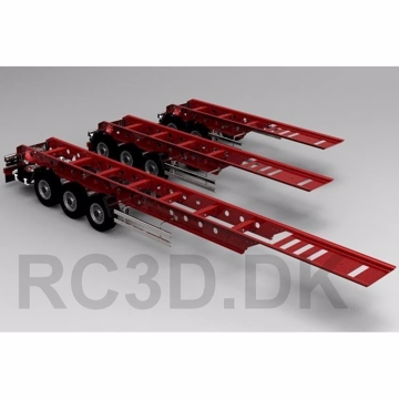 3 aksel trailer 990 mm Scale-parts