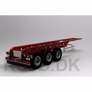3 aksel trailer 700 mm Scale-parts