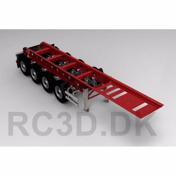 4 aksel trailer 700 mm Scale-parts